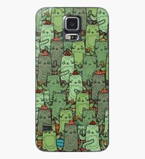 Funda/vinilo para Samsung Galaxy Catcus Garden