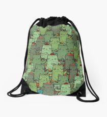 Catcus Garden Drawstring Bag