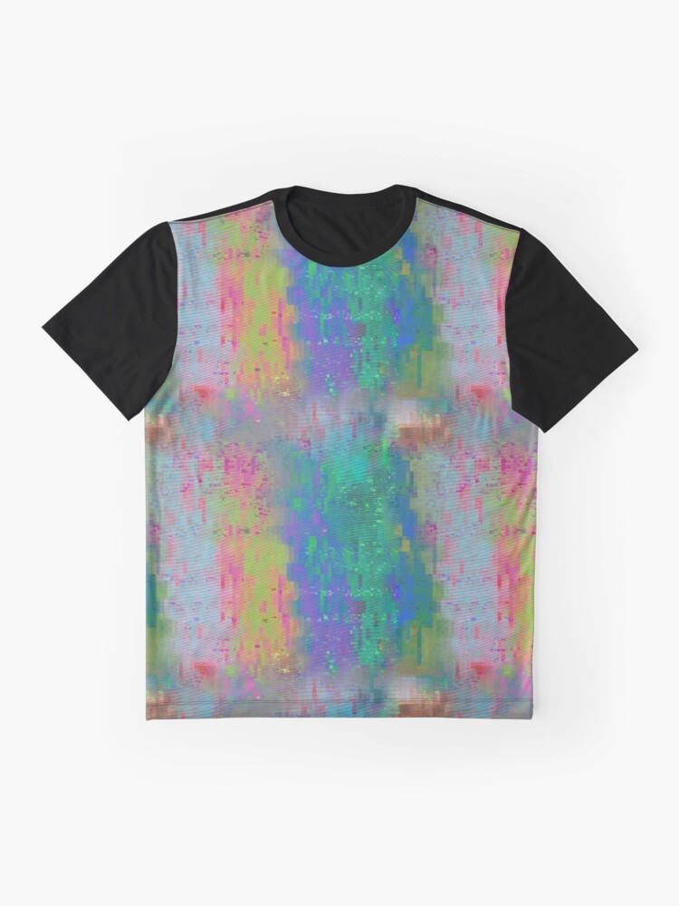 8146eb8f4c818 Alternate view of Screen Glitch VHS Texture Graphic T-Shirt