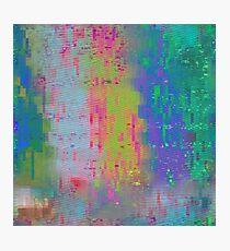 Screen Glitch VHS Texture Photographic Print