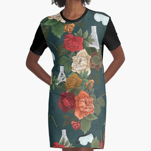 Chemistry Floral Graphic T-Shirt Dress