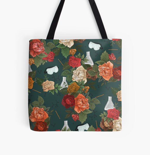 Chemistry Floral All Over Print Tote Bag
