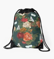 Chemistry Floral Drawstring Bag