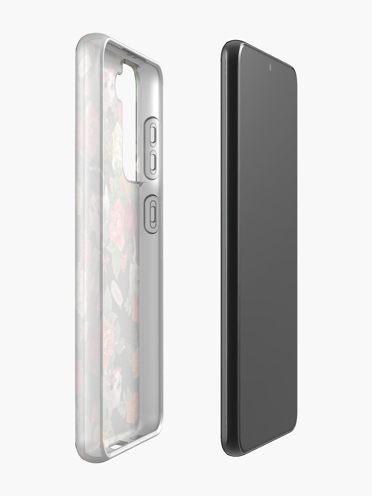 Alternate view of Opossum Floral Pattern (with text) Case & Skin for Samsung Galaxy