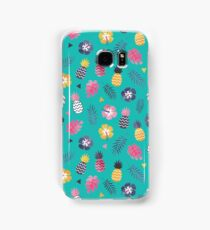 Forever Summer Tropical Pattern on Mint Green Samsung Galaxy Case/Skin
