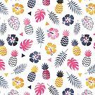 Für immer Sommer-tropisches Muster auf Weiß von daisy-beatrice