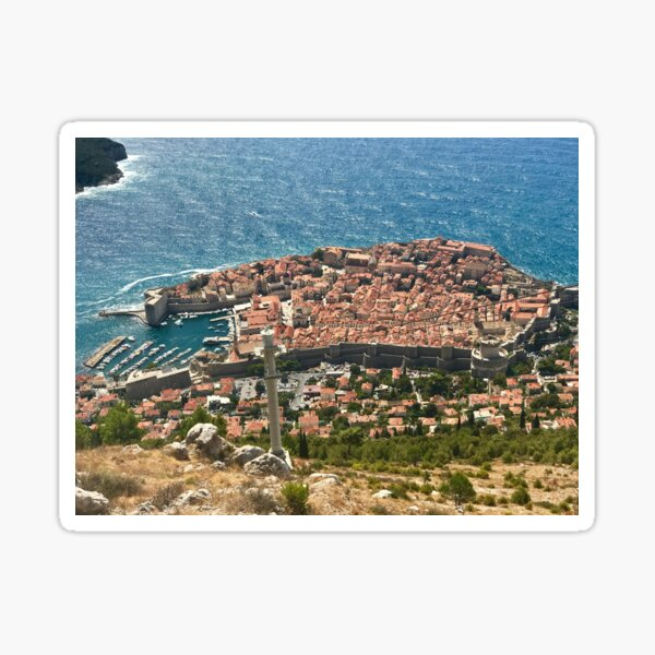 Croatia - Dubrovnik - Ragusa - Cable Car View Sticker