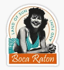 Boca Raton Florida Vintage Travel Decal Sticker