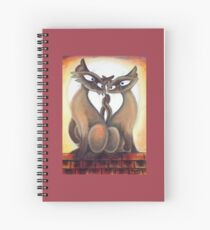 Roof Top Cats - Middle Panel Spiral Notebook