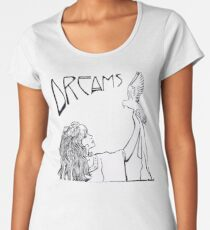 Stevie Nicks- Art Nouveau Style- B&W Women's Premium T-Shirt