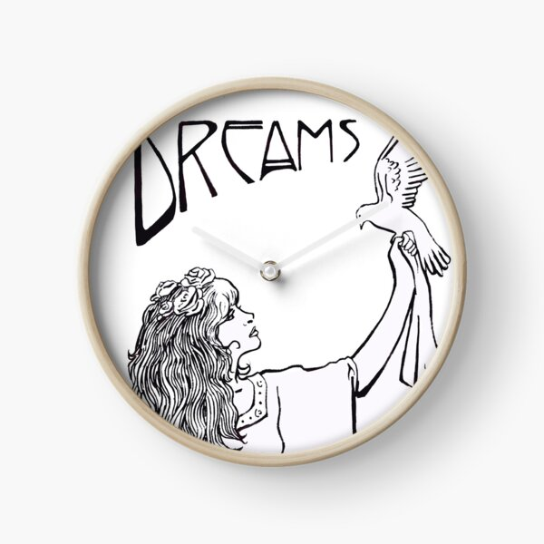 Stevie Nicks- Art Nouveau Style- B&W Clock