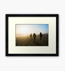 Backpacking on Rialto Beach Framed Print