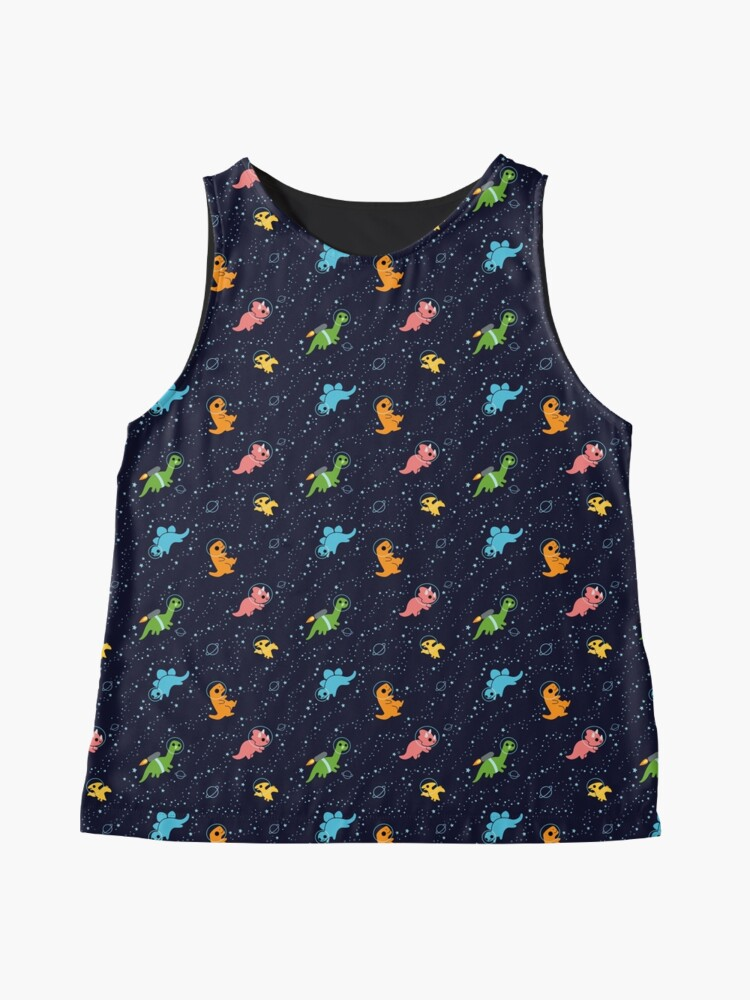 Alternate view of Dinosaurs In Space Sleeveless Top