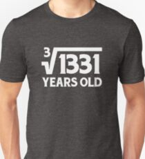 Funny Math Geek 11th Birthday Cube Root T-Shirt 11 Year Old  T-Shirt