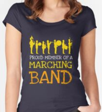 Marching Band Design Women's Fitted Scoop T-Shirt