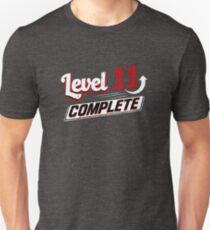 Funny Level 11 Complete Video Game 11th Gamer Geek T-Shirt