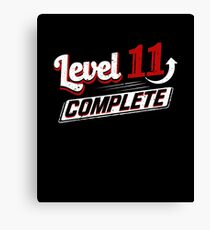 Funny Level 11 Complete Video Game 11th Gamer Geek Canvas Print