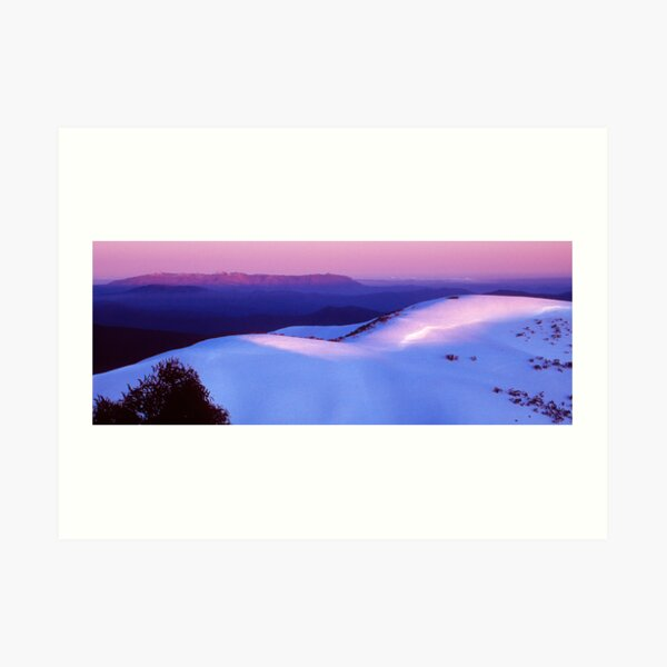 Mount Buffalo Plateau from Mount Hotham Art Print