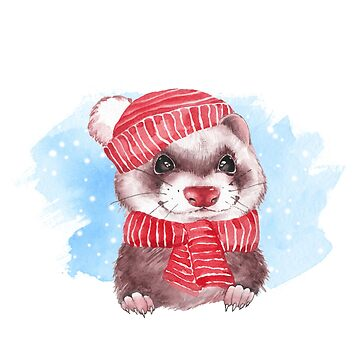Winter Ferret by Gribanessa