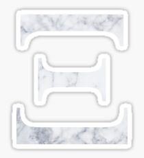 Xi White Marble Sticker
