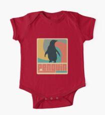 Retro Penguin Kids Clothes