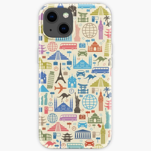 Icons of Travel iPhone Soft Case