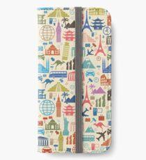 Ikonen der Reise iPhone Flip-Case/Hülle/Klebefolie