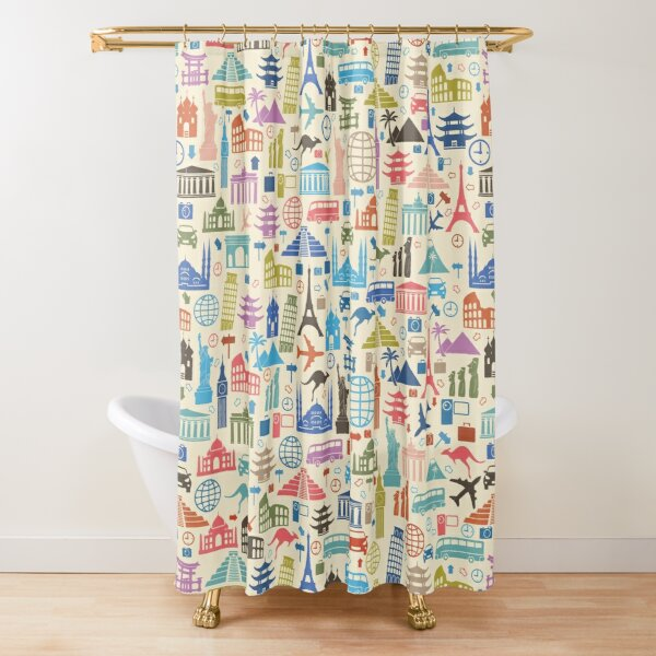 Icons of Travel Shower Curtain