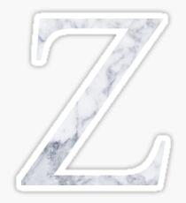 Z Zeta White Marble  Sticker