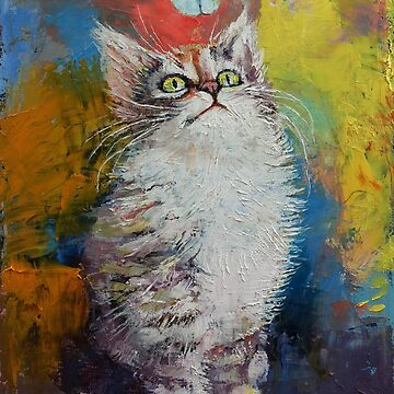 Kitten and Butterfly by michaelcreese