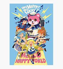 Hello Happy World Photographic Print