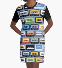 Mixed Tapes Graphic T-Shirt Dress