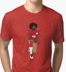 Colin Kaepernick Kneeling  Tri-blend T-Shirt