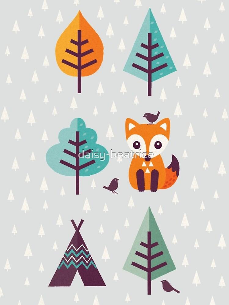 Fuchs im Wald - auf Grau von daisy-beatrice