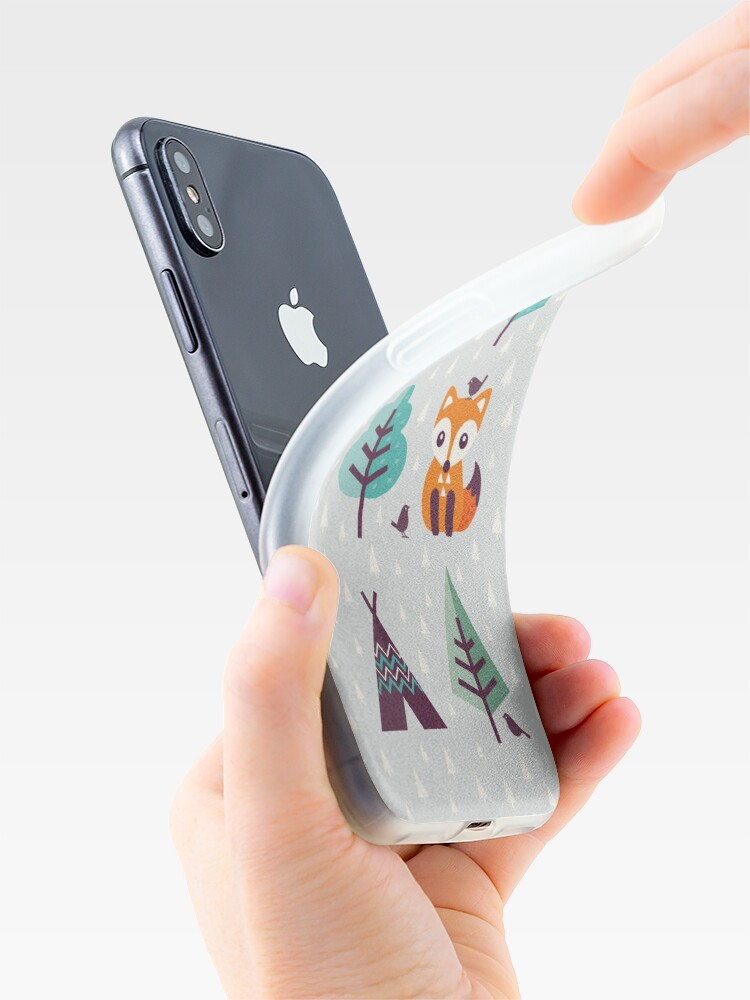 Alternative Ansicht von Fuchs im Wald - auf Grau iPhone-Hüllen & Cover