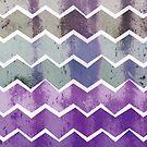 Gewellte Chevron-Streifen - Sturm Colorway von daisy-beatrice