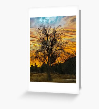Sunset in Perris Greeting Card