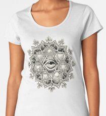 Anahata Seven Chakra Flower Mandala Women's Premium T-Shirt
