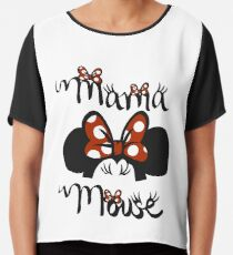 Mama Mouse Shirt Chiffon Top