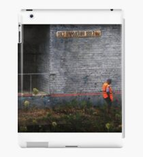 lineman. end of duty iPad Case/Skin