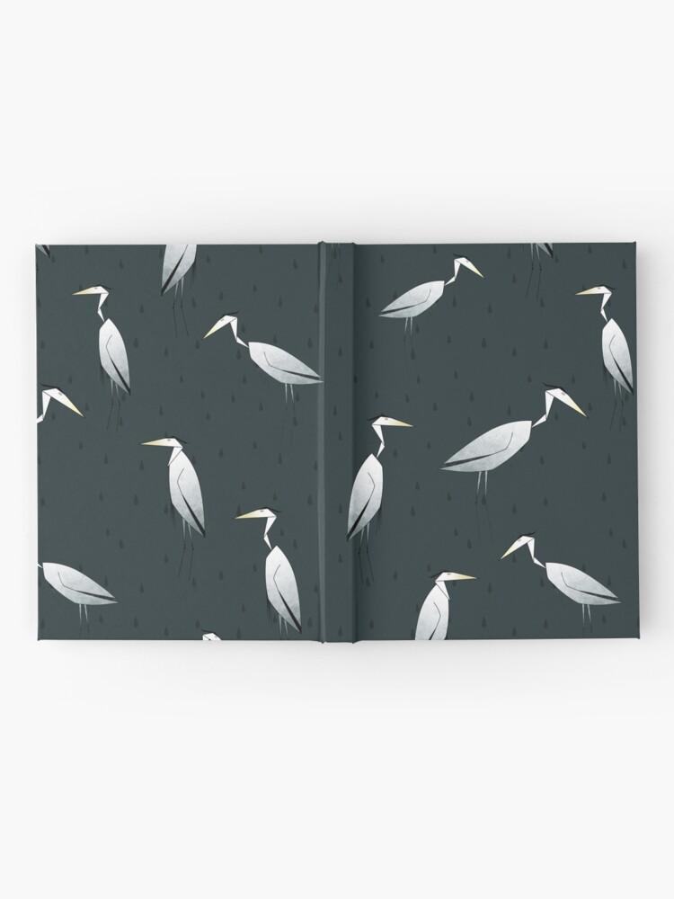 Alternate view of Heron Pattern Hardcover Journal