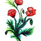Poppies - Flowers by Linda Callaghan