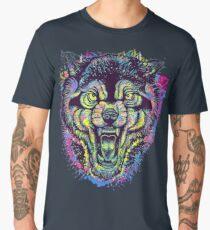 Neotraditional Full Color Wolf Men's Premium T-Shirt