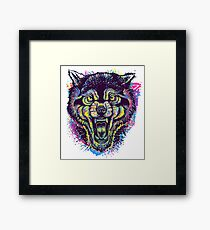 Neotraditional Full Color Wolf Framed Print