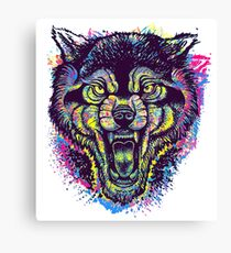 Neotraditional Full Color Wolf Canvas Print