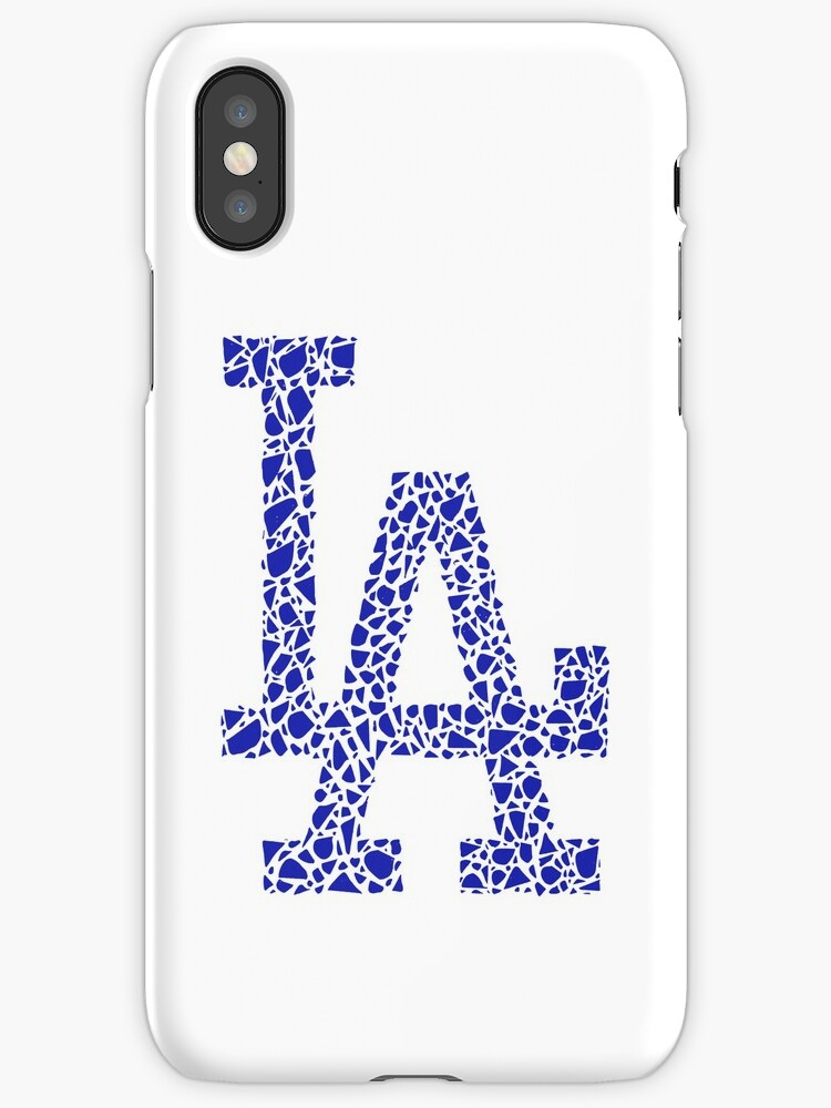 La Dodgers Stained Glass Iphone Cases Covers By Palegingerette