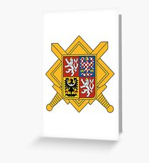 Military of Czech Republic Coat of Arms Greeting Card