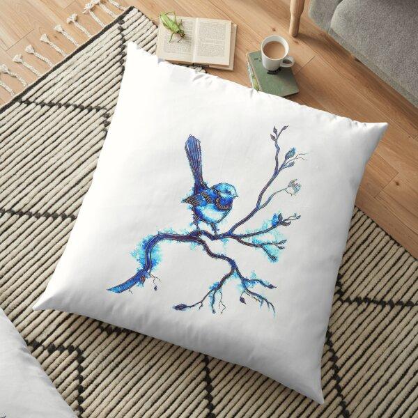 Simply Blue - Wren  Floor Pillow