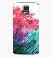 Flowers - Dancing Poppies Case/Skin for Samsung Galaxy