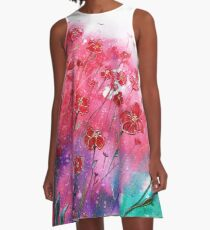 Flowers - Dancing Poppies A-Line Dress
